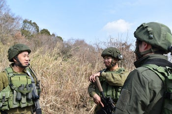 Sigcchi and comrades during a game of airsoft.