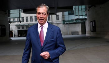 Leader of the Brexit Party Nigel Farage following the results of the European Parliament elections, London, May 27, 2019.