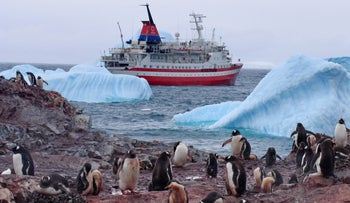 Canadian research ship in Antarctica
