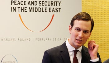 White House Senior Adviser Jared Kushner attends a conference on Peace and Security in the Middle East in Warsaw, Poland, February 14, 2019