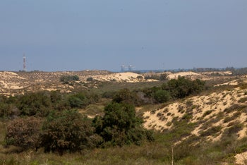 The dunes Netiv Ha'asara in southern Israel, next to the border with Gaza, on May 27, 2019.