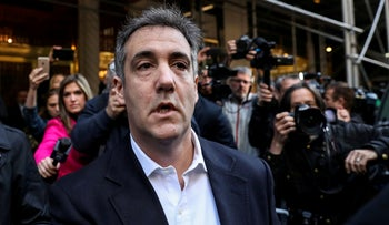 File photo: Michael Cohen, U.S. President Donald Trump's former lawyer, leaves his apartment to report to prison in Manhattan, New York, U.S., May 6, 2019.