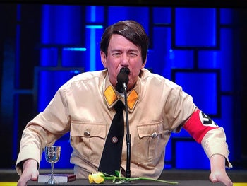 Screengrab from Netflix's 'Historical Roast' of Anne Frank.