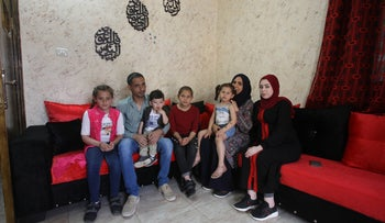 Children and grandchildren of Khatatbeh and Ibrahim, in their family home in Beit Furik, West Bank, May 26, 2019.