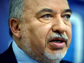 Avigdor Lieberman, former Israeli Defence Minister and head of Yisrael Beitenu party speaks during a news conference in Tel Aviv, Israel May 30, 2019
