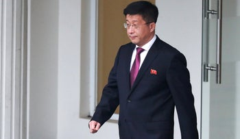 Kim Hyok Chol, North Korea's special representative for U.S. affairs, leaves the Government Guesthouse in Hanoi, Vietnam, February 23, 2019.