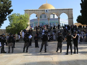 Police forces on Temple Mount as Jews mark Jerusalem Day, Jerusalem, Israel, June 2, 2019.