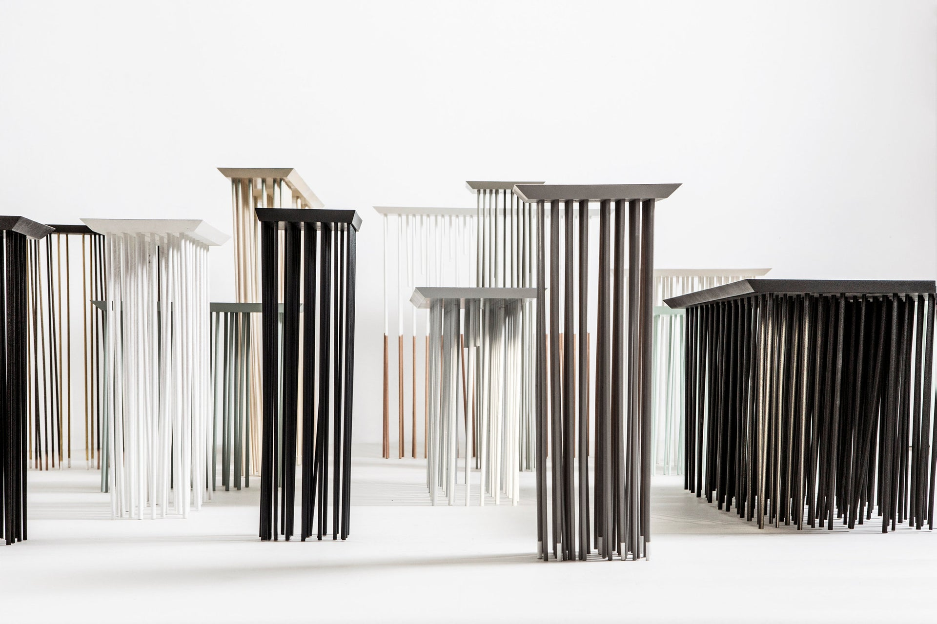 Ohad Benit's stools-tables with multiple legs.