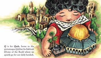 An excerpt from 'P is for Palestine,' written by Golbarg Bashi and illustrated by Golrokh Nafisi.