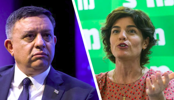 Labour Chairman Avi Gabbay and Meretz Chairwoman Tamar Zandberg.