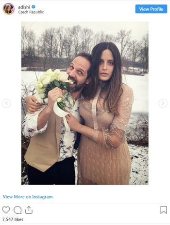 A photo from Israeli actress Adi Shilon's Instagram, on her wedding day to Yousef Sweid.
