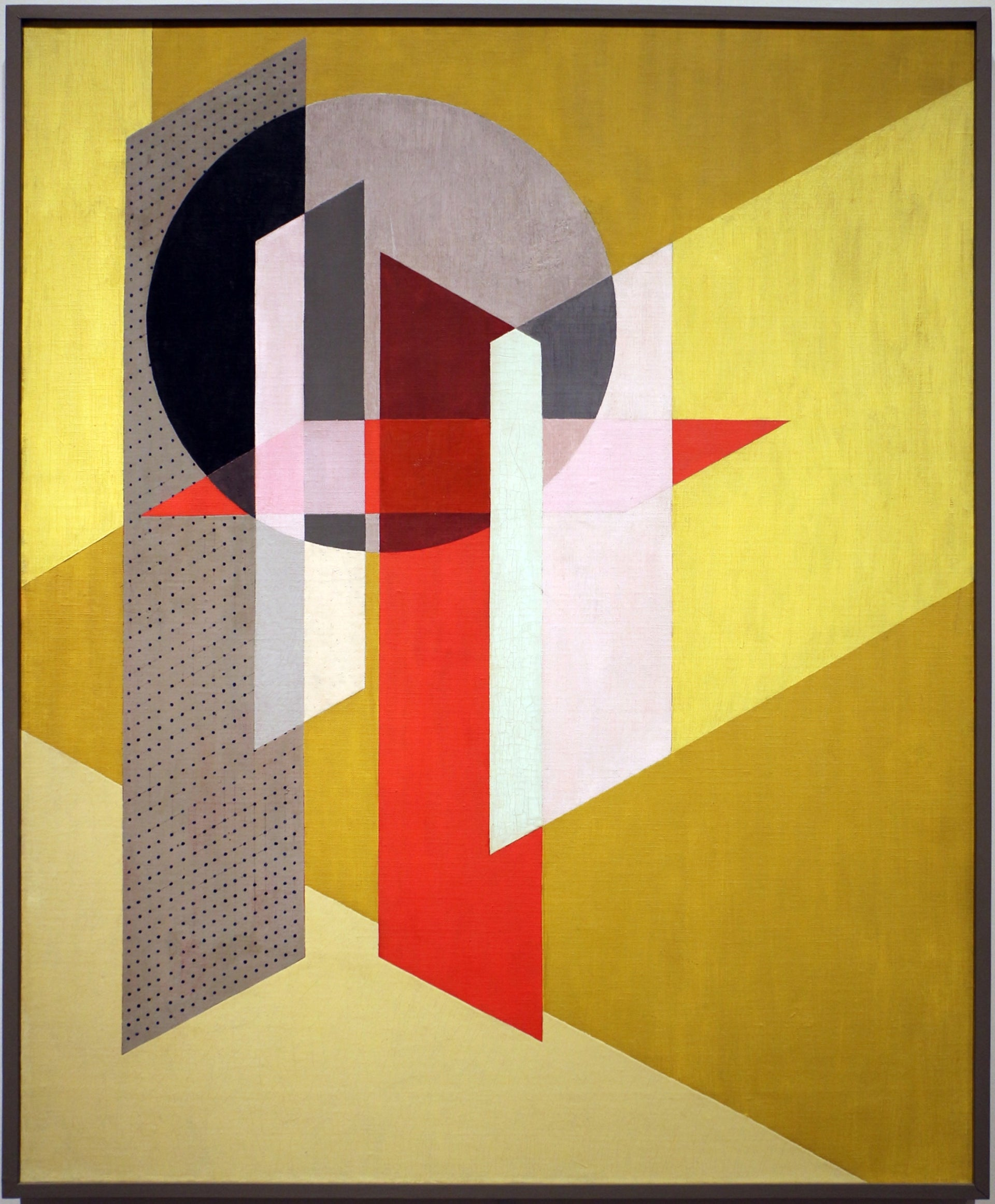 László Moholy-Nagy's 'Z VII,' oil and graphite on canvas, 1926.