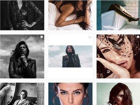 A screen shot of Iranian model Negzzia's Instagram account. Her photos got her in trouble in Iran.