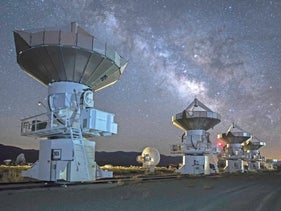 The Owens Valley Radio Observatory, owned by Caltech, near Bishop, California. Looking out toward the universe's 10 sextillion stars.