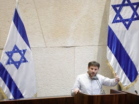 Israeli lawmaker Bezalel Smotrich in the Knesset, Jerusalem, May 13, 2019.