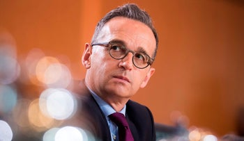 German Foreign Minister Heiko Maas at the weekly cabinet meeting in Berlin on May 22, 2019.