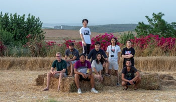 Volunteers at Kibbutz Ein Hashofet, June 8, 2019.