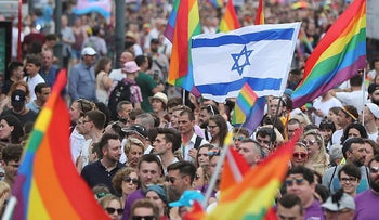 People take part in a gay pride parade in Warsaw, Poland, on Saturday, June 8, 2019. The Equality Parade is the largest gay pride parade in central and Eastern Europe