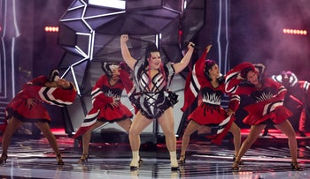 Former Eurovision winner Netta Barzilai performs before the 2019 Eurovision Song Contest semi-final in Tel Aviv, Israel, May 14, 2019.