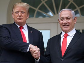 Donald Trump and Benjamin Netanyahu at the White House in Washington, U.S., March 25, 2019.