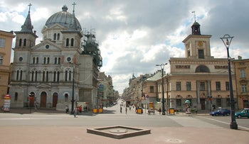 FILE Photo: The Polish city of Lodz where a once thriving Jewish community once lived.