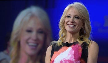 FILE Photo: White House counselor Kellyanne Conway speaks at the Conservative Political Action Conference (CPAC) in Oxon Hill, Maryland, February 23, 2017.