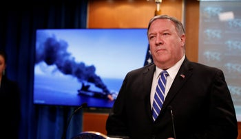 Mike Pompeo speaks at the State Department, June 13, 2019, in Washington.