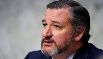 Senator Ted Cruz during a hearing by the Senate Commerce subcommittee on Transportation and Safety on Capitol Hill in Washington, U.S., March 27, 2019.
