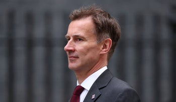 Britain's Foreign Secretary Jeremy Hunt is seen outside Downing Street, in London, Britain, June 12, 2019.