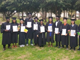 Graduates of the Arava International Center for Agricultural Training.