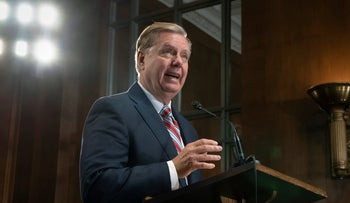 File photo: Senate Judiciary Committee Chairman Lindsey Graham, R-S.C., on Capitol Hill in Washington, May 15, 2019