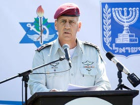 IDF chief of staff, Lt. Gen. Aviv Kochavi, at a ceremony for the appointment of a new military academies commander, in March.