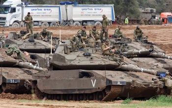 Israeli forces close to the border with Gaza, on March 26, 2019.