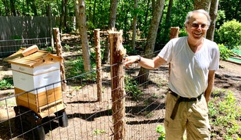 Marty Markowitz, showing off his apiary in the backyard of his Southampton house, said he is back on track after years under the sway of a psychiatrist he says took over his life and business