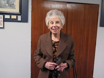 Ruth Leveson at Temple Israel synagogue in Hillbrow, Johannesburg.