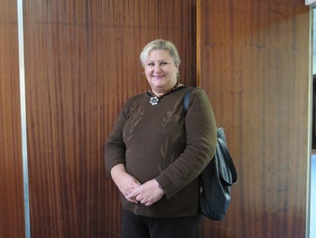 Tracey Korsen at Temple Israel synagogue in Hillbrow, Johannesburg.
