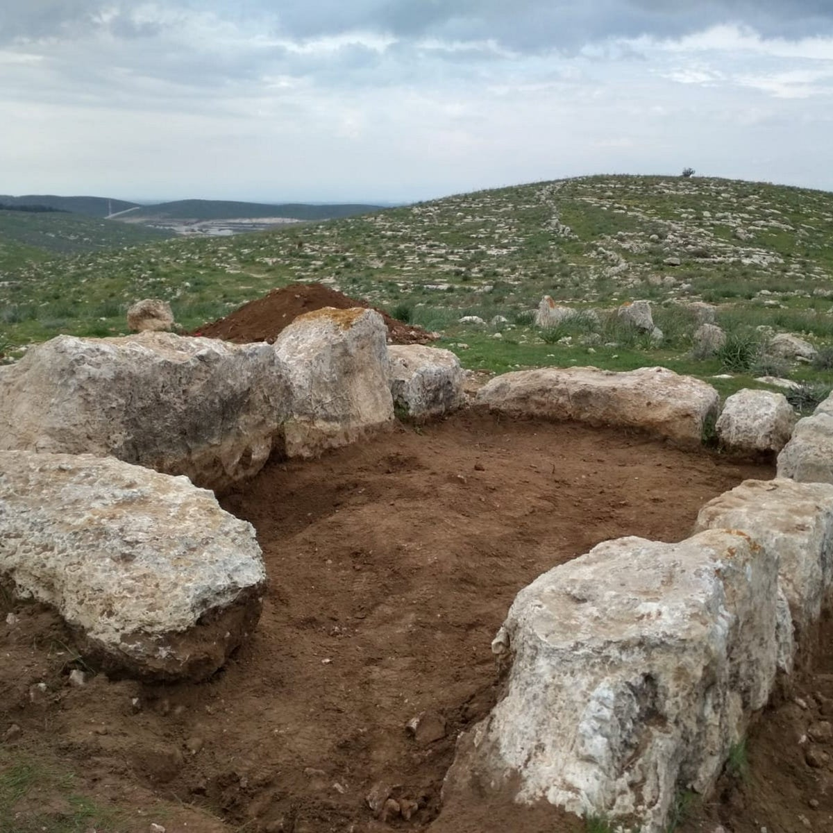 Base of 2,800-year old watchtower that probably stood 2 stories high