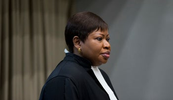 Public Prosecutor Fatou Bensouda enters the International Court in The Hague, Netherlands, December 6, 2016.