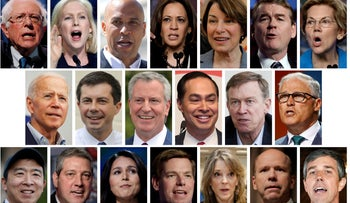 The 20 contenders for the Democratic party's nomination for president.