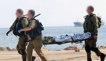 Evacuating the wounded following a grenade explosion in 2016.