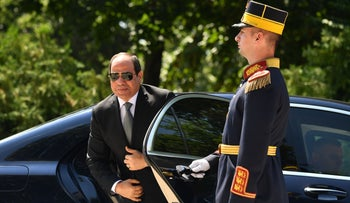 Egyptian President Abdel-Fattah al-Sissi on a visit to Bucharest, June 17, 2019.