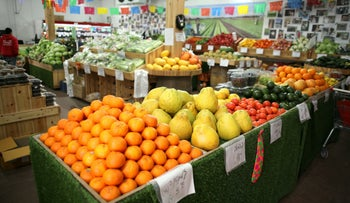 A produce store on a moshav in southern Israel, June 2, 2019.