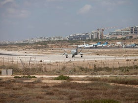 FILE Photo: Planes at Tel Aviv's Sde Dov airport, June 14, 2014.