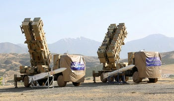 Khordad 15, a new surface-to-air missile battery at an undisclosed location in Iran, June 9, 2019.