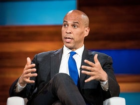 Democratic presidential candidate U.S. Sen. Cory Booker (D-NJ) participates in the Black Economic Alliance Forum at the Charleston Music Hall at the Charleston Music Hall in Charleston, South Carolina, June 15, 2019