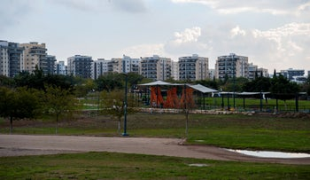 The park in Afula, last year.