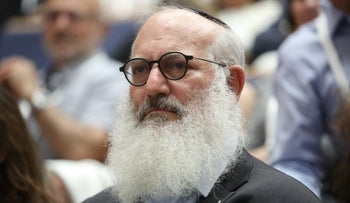 Eduardo Elsztain at a conference at Tel Aviv University, May 18, 2019.