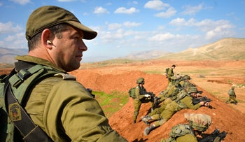 FILE Photo: Ofer Winter during a military exercise in the Jordan Valley, 2016.