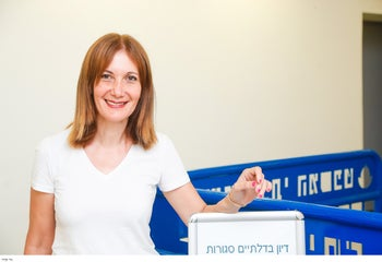 Blogger Lori Shem-Tov who has been charged with writing insulting posts against judges and other civil servants, June 11, 2019.