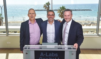 From left: Yossi Boker, representative of the TSX in Israel, A-labs CEO Doron Cohen, and Robert Peterman, Global Business Development at TSX.
